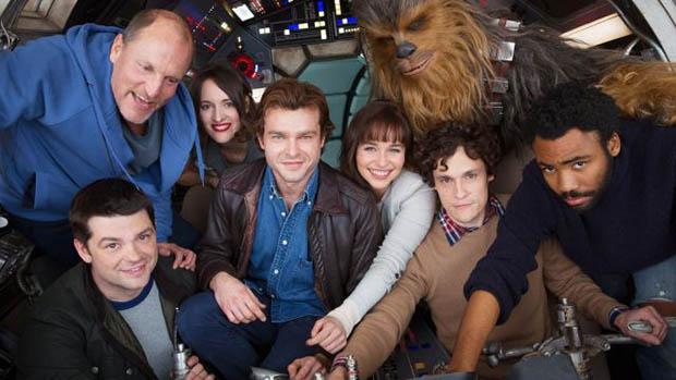 Stábfotó a Han Solo film forgatásáról