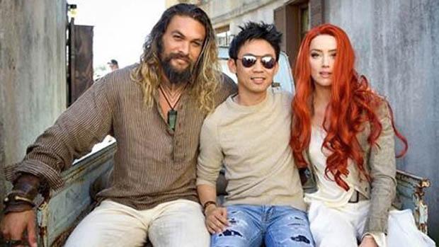 Aquaman forgatási kép Amber Heardtól