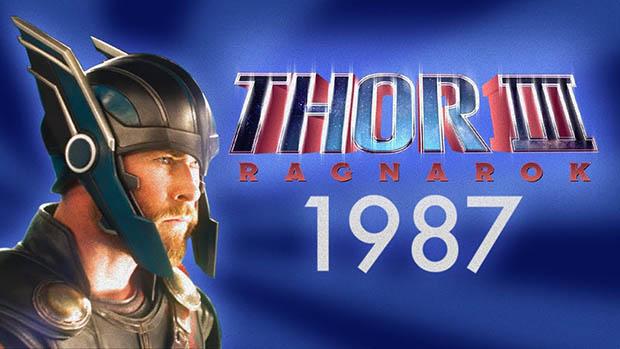 Thor: Ragnarök 1987 VHS előzetes és IMAX poszter